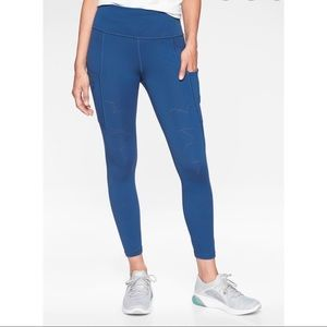 Athleta All In Reaction 7/8 Tight laser-cut Small
